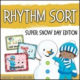 Rhythm Centers and Composition Rhythm Sort - Super Snow Day Edition