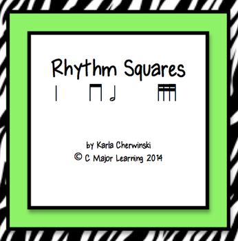 Rhythm Squares half note and tika-tika (sixteenth notes)