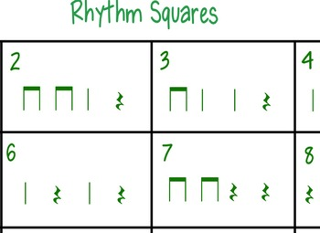 Rhythm Squares (quarter rest)