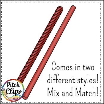 Rhythm Sticks -  Clipart (Clip art) - Commercial Use - SMART OK