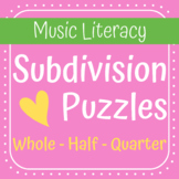Rhythm Subdivision Puzzle Game (Color & Ink Saver Versions)