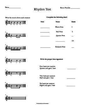 Rhythm/Subdivision Test