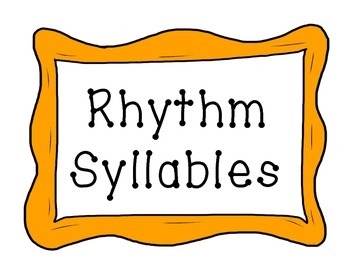 Rhythm Syllables Posters