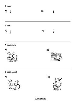 Rhythm Test first grade