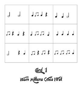 Rhythm Tic-Tac-Toe Monsters & Mittens