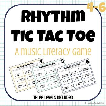 Rhythm Tic-Tac-Toe! A Rhythm Reading Game! Levels 4-6