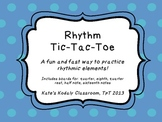 Rhythm Tic-Tac-Toe Freebie