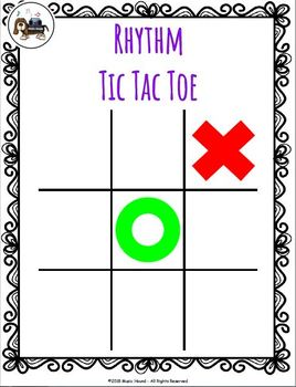Rhythm Tic Tac Toe - Quarter/Eighth/Half/Sixteenth Notes and Quarter Rest
