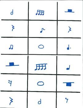 Rhythm Tic Tac Toe Set with Calling Cards