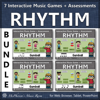 Music Games: Interactive Rhythm Games + Assessments Bundle {gumball}