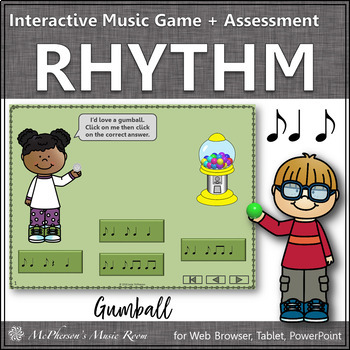 Music Game: Syncopation (Syncopa) Interactive Rhythm Game + Assessment {gumball}