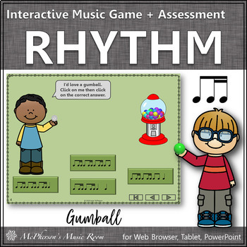 Rhythm Time with Ti-Tiri Interactive Music Game + Assessment (gumball)