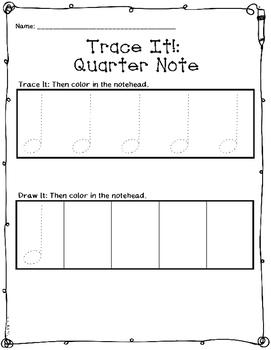 Rhythm Trace {Quarter Note, Quarter Rest}