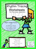 Rhythm Tracing Worksheets: Ta TiTi Ta Rest and Half Note