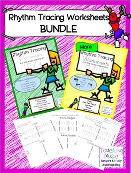 Rhythm Tracing Worksheets BUNDLE