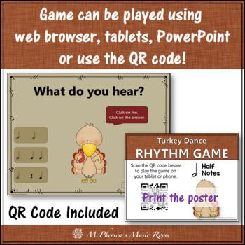 Rhythm Turkey Dance Interactive Music Game {half note / ta-ah}