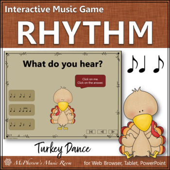 Rhythm Turkey Dance Interactive Music Game {syncopa / sync