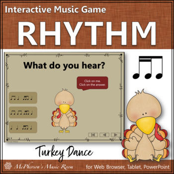 Rhythm Turkey Dance Interactive Music Game {tiri-ti / tika-ti}