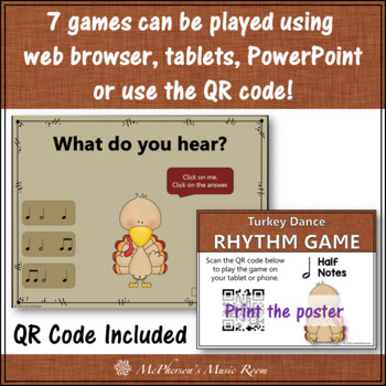 Rhythm Turkey Dance Interactive Music Games {Bundle}