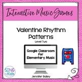 Valentine Rhythm Patterns Level 2: An Interactive Music Game