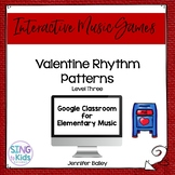 Rhythm Valentines Level 3: an interactive rhythm pattern game