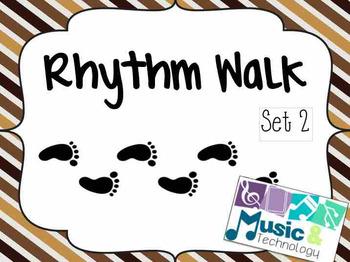 Rhythm Walk Game- Set 2 (Half Notes)