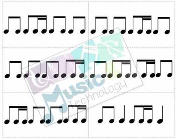 Rhythm Walk Game- Set 4 (1 Eighth-2 Sixteenths)