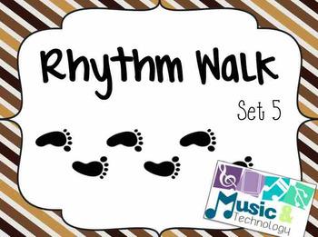 Rhythm Walk Game- Set 5 (2 Sixteenth-1 Eighth)