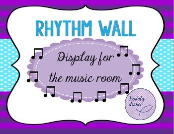 Rhythm Wall - Display - Flashcards for Music Room