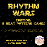Rhythm Wars, 8 Beat Games Set of MP4s & PDFs
