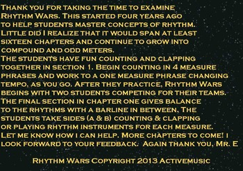 Rhythm Wars: In the Beginning PowerPoint Edition