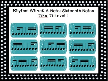 Rhythm Whack-A-Note: Sixteenth Note Combinations