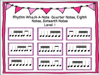 Rhythm Whack-A-Note: Sixteenth Note
