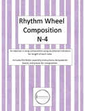Rhythm Wheel Composition - Color and Black and White