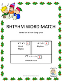 Rhythm Word Match Winter Song Lyrics 1