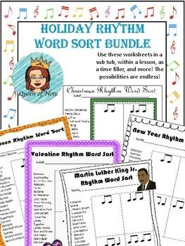Rhythm Word Sort - Growing Bundle