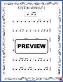 MUSIC Worksheet: Music Rhythm Workout - Free Download