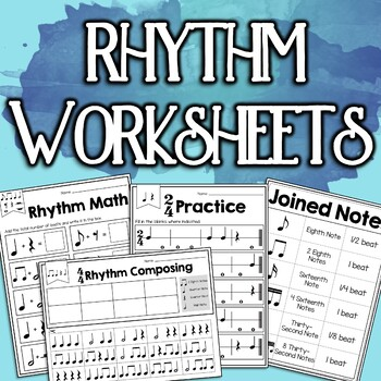 Rhythm Worksheet Bundle