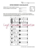 Rhythm Worksheet - Dotted Quarter & 8th Notes
