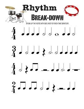 Rhythm Worksheet Freebie! by Grace Notes | Teachers Pay Teachers