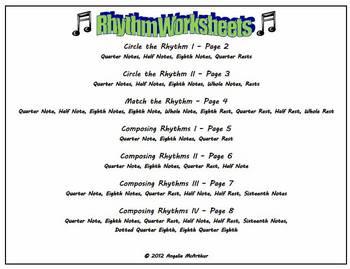 Rhythm Worksheets