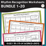 Rhythm Worksheets BIG Bundle - Sets 1-20