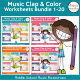 Rhythm Worksheets BIG Bundle - Sets 1-20