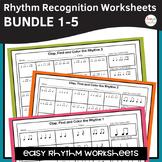 Rhythm Worksheets Bundle - Sets 1-5