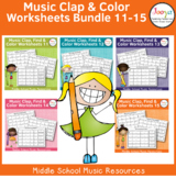 Rhythm Worksheets Bundle - Sets 11-15