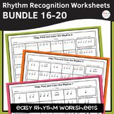 Rhythm Worksheets Bundle - Sets 16-20