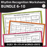 Rhythm Worksheets Bundle - Sets 6-10
