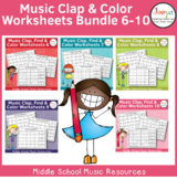 Rhythm Worksheets Bundle - Sets 6-10