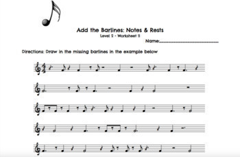 Rhythm Worksheets Level 2 by Music Teacher Mumma | TpT