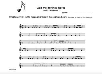 Rhythm Worksheets Level 3